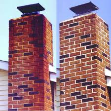 before and after using masonry fireplace cleaner