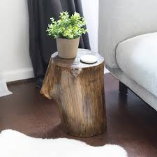 make a tree stump side table diy final