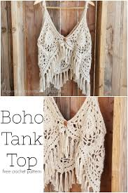 Crochet Tank Top Pattern Classy Crochet Boho Tank Top Hooked On Homemade Happiness