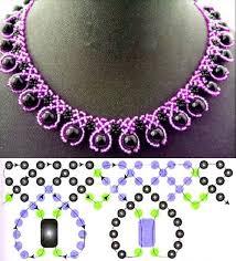 <b>Seed bead necklace</b> pattern   Образцы украшений из бисера ...