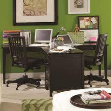 dual desks home office. E2 Midtown Ergonomically Curved Two-Person Dual T Desk \u0026 Three-Drawer Single File Desks Home Office H