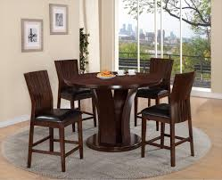 Crown Mark Daria Round Counter Height Dining Table And Stool Set