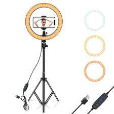 Ring Light With Phone Holder 2019 Led Ring Light 10 With Tripod Stand Phone Holder For Youtube Video Desktop Camera Led Ring Light For Streaming Makeup From Hebe377 15 08