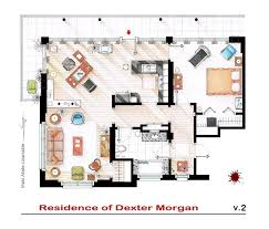 Floor Plans Of Homes From Famous TV Shows - Loft apartment floor plans