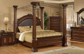 Captivating Wood Canopy Beds King Size Pictures Decoration Ideas ...
