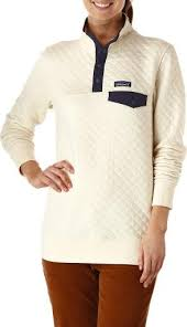 Patagonia Cotton Quilt Snap-T Pullover - Women's at REI & Patagonia Cotton Quilt Snap-T Pullover - Women's Toasted White Adamdwight.com