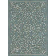 this review is from scroll aqua 5 ft x 7 ft indoor outdoor area rug