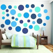 polka dot wall decor large circle wall decals multi size blue polka dot wall decal pack