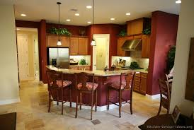 red kitchen wall colors. Red Kitchen Walls With Medium Brown Cabinets | Kitchens - Traditional Wall Colors I