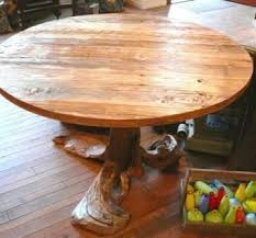 rustic round table. Driftwood / Reclaimed Wood Rustic Round Dining Table C