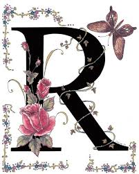 Romantic Letter Extraordinary R Is For Red Roses And A Rose Swallowtail Butterfly Red Roses Are