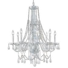 white chandelier with crystals beautiful envogue white crystal chandelier by crystorama of white chandelier with crystals