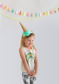 diy melting ice cream party hats from oh happy day