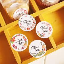 120pcs <b>Thank</b> You <b>Flower</b> Bird Round Seal Stickers | Shopee ...