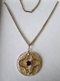 victorian 9ct gold pendant chain