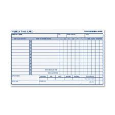 weekly time card rediform weekly time card 1 part 4 25 x 7 sheet size