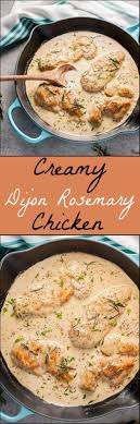 easy dinner ideas for company. tender chicken breast in a creamy dijon rosemary sauce \u003d an easy to make fall comfort food dinner you\u0027ll devour. try with cashew cream! ideas for company e