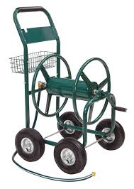 get ations liberty garden products 872 2 residential 4 wheel steel garden hose reel cart