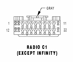 radio c1 except infinity gray 22 way