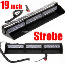 Police Car Light Bar For Sale 18 Led 19inch Car Dash Windshield Led Police Light Bar