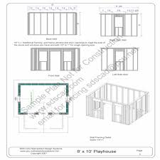 playhouse plans with material list diy loft free play house pertaining to the amazing playhouse plans