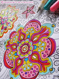 abstract art coloring book by thaneeya