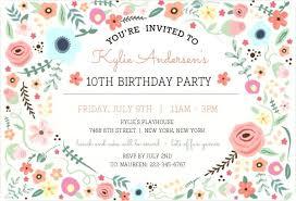 Girls Birthday Party Invitation Purpleweddinginvitations