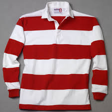 white red rugby shirt