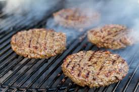 Image result for hamburgers on a charcoal grill