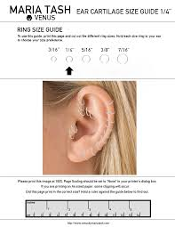 Diamond Stud Size Chart Cartilage Hoop Earring Size Chart Earring Foto Collections