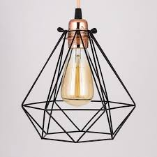 geometric diamond vintage edison light bulb cage for pendant lights