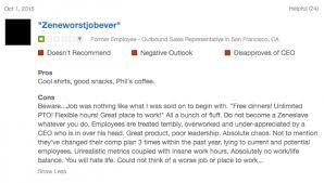 glassdoor review example