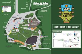 Alpine Valley Music Theatre Seating Chart Farm Aid 2019 Festival Venue Information Maps Hotels Rules
