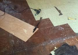 removing old floor tile floor adhesive