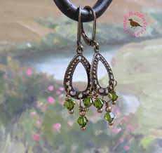 olive green pearl earrings olive green crystal chandelier earrings petite olive green crystal drop earrings