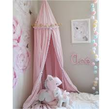 kids bedroom princess lace bedding round dome bed canopy deco bed nets princess tent shooting props tassel pendant beding net sailboat crib bedding pack n