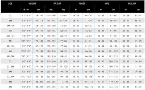 International Women S Size Chart Sizing Chart Lavacore International