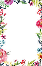 Paper With Flower Border Printable Paper With Borders And Lines Border Pdf Free