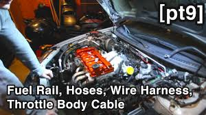 vacuum & coolant hoses, fuel rail, wire harness & throttle body Rail Wire Harness vacuum & coolant hoses, fuel rail, wire harness & throttle body cable [unbusted mazda rebuild pt9] wire harness manufacturing rail industry
