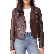 mackage baya bordeaux leather jacket