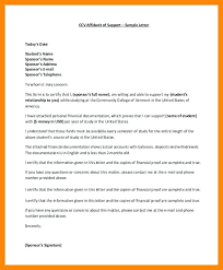 Affidavit Of Support Letter Awesome Affidavit Support Guarantee Form Of Template Financial Sample