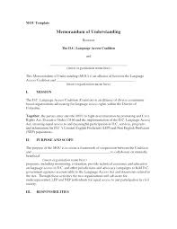 Memorandum Of Understanding Australia Template Prinsesa Co