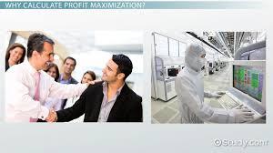profit maximization definition equation theory video profit maximization definition equation theory video lesson transcript com