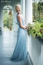 Light Blue Sparkly Bridesmaid Dresses Delft Blue Garden Party Wedding Inspiration Bridesmaids