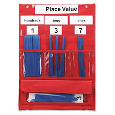 Hundreds Tens Ones Pocket Chart Buy Counting And Place Value Pocket Chart With Cards Straws