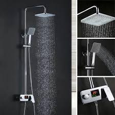 Duschset Mit Lcd Display Duschsystem Regendusche Duschen Handbrause Und Duschkopf Duschstange Duscharmatur Homelody