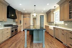 this kitchen features a tile sandwiched between white and light wood cabinets as countertops with oak kitchen ideas