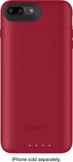 iphone 7 plus red. mophie - juice pack external battery case with wireless charging for apple® iphone® 7 iphone plus red