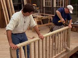 planning ideas wood deck railing sections