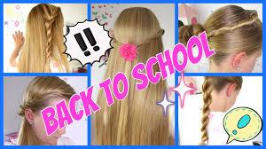 Back To School 5 Einfache Und Schnelle Frisuren 3minuten
